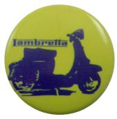 Lambretta  - 'Blue' Button Badge
